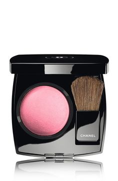 CHANEL JOUES CONTRASTE Powder Blush | 64 Pink Explosion- Unique powder blusher imparts a flattering radiance to cheeks. Remarkably silky texture for easy application and subtle shading. Accentuate cheekbones for a youthful look. Softer tones around the eyes soften expression and rejuvenate.