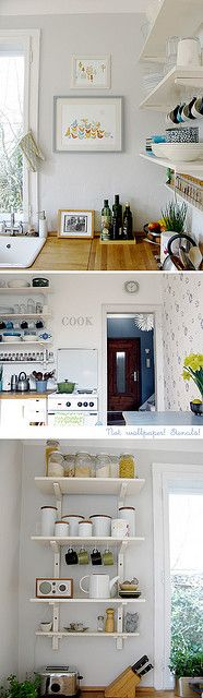 Kitchen Shleving  Lillian's Diary by decor8, via Flickr