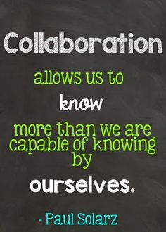 I'm a true believer in  peer collaboration in and out of the classroom and in everyday life! #quote #teaching #collaboration Co Teaching, Teaching Quotes, Education Quotes, Teach Like A Pirate, Professional Learning Communities, 21st Century Learning, Instructional Coaching, School Quotes, Quotes For Kids
