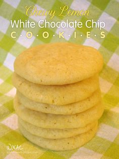 Chewy Lemon White Chocolate Chip Cookies | 16 Lemon Recipes To Make You Pucker Up...In A Good Way