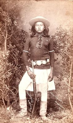 "Skin-Tin-Day. San Carlos Apache. ca. 1880. Identified as ""Medicine Man""."