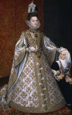 """Alonso Sánchez Coello. """"La infanta Isabel Clara Eugenia y Magdalena Ruiz"""" (1585 - 1588)"""