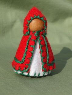 Lil Christmas Peg Doll