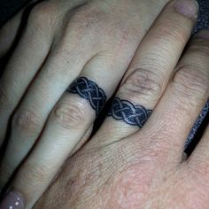 Matching wedding ring tattoos