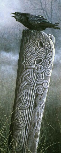 Celtic stone carving