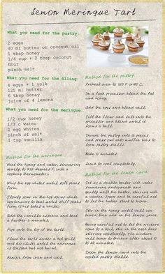Lemon Meringue Tart Recipe - grain, nut & refined sugar-free