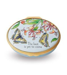 Halcyon Days Enamel Box 'The best is yet to come'