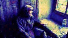 Art picture by Seizi.N 印象派絵画の光と影の窓際の老婆を、洋画の油絵風に古典的な技法でお絵描きしてみました。  言の葉の庭 Rain / 秦基博(Motohiro Hata)  MAD http://youtu.be/_XlH7gSvAkc