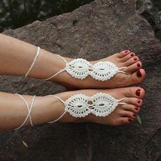Hot Crochet Barefoot Sandals Beach Wedding Bridal Anklet Foot Jewelry Bracelet -- BuyinCoins.com