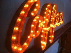 Vintage Industrial Metal Marquee Lights  by VintageMarqueeLights, $499.00
