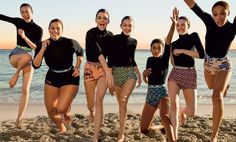 Liu Wen, Ashley Graham, Kendall Jenner, Gigi Hadid, Imaan Hammam, Vittoria Ceretti, and Adwoa Aboah. Photographed by Inez and Vinoodh, Vogue, March 2017.