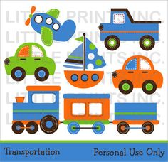 Transportation Clip Art Personal Use Personal Use Buy 2 Get 1 FREE. $5.00, via Etsy.