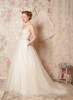 'Through the Flowers' Spring 2016 Bridal and Accessories Collection by Ivy & Aster see more at http://www.wantthatwedding.co.uk/2015/05/14/through-the-flowers-spring-2016-bridal-and-accessories-collection-by-ivy-aster/