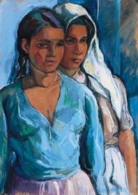 Perlrott-Csaba Vilmos - Testvérek,1935 South American Art, Couple Art, Disney Characters, Fictional Characters, Mexican, Paintings, Disney Princess, Siblings, Portraits