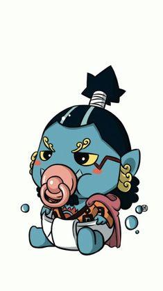 Chibi baby Jinbei - One piece One Piece Comic, One Piece Ace, One Piece Images, One Piece Pictures, One Piece English, One Piece World, The Pirate King, Mini One, Chibi Characters