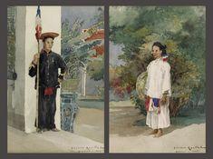 https://flic.kr/p/q75JZu | 1885 - VIETNAMESE CIVIL AND MILITARY SERVANTS IN INDOCHINA by Gaston Roullet (1847-1925) | Tranh màu nước trên giấy, kích thước mỗi bức: 28 x 18,5 cm Giá dự kiến 40.000-60.000 HKD