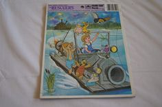 Vintage 1950's - Walt Disney Rescuers 11 piece puzzle - Whitman - Rescuers on a car boat by TheMercerStreetHouse on Etsy