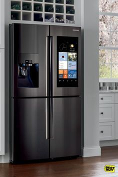 These days, fridges don't just look amazing—they have all the extras you could ever want. Case in point: the Samsung Family Hub with 4-Door Flex. It's versatile with a bottom-right door you can easily switch from cooling to freezing for extra space. And with cameras that let you see inside from your smart device you can even say goodbye to your grocery list. Stream music while you clean. Watch videos while you cook. This thing does it all.