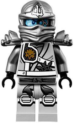 LEGO Ninjago Minifigure - Zane Titanium Ninja with Gold Sai Weapons Lego Ninjago Minifiguren, Ninjago Party, Legos, Sai Weapon, Boutique Lego, Best Lego Sets, Pokemon Coloring Pages, Lego Man, Dragon