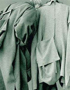 ejakulation: Yohji Yamamoto, blended wool coats and integrated bags, F/W 1983