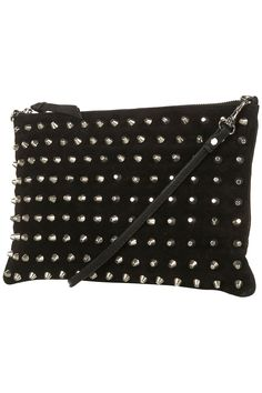 05e5dc28b6ab Topshop Studded Suede Clutch Topshop Bags