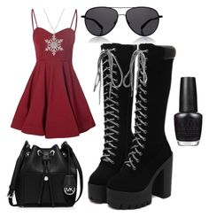 """""""Untitled #44"""" by supemrs on Polyvore featuring Glamorous, MICHAEL Michael Kors, The Row and OPI"""