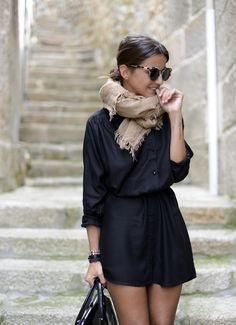 casual summer outfit : Black + Natural tones - for more inspiration visit http://pinterest.com/franpestel/boards/