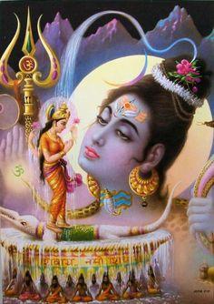 Lord Shiva with Ganga. I love this! So beautiful!
