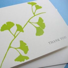 Eco Friendly Ginkgo Screenprint cards