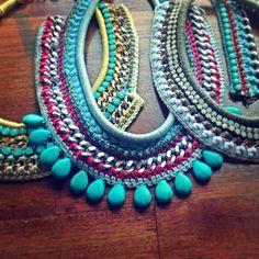 diy crochet necklace - Buscar con Google