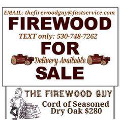 The Firewood Guy offers seasoned Dry Oak firewood that is grown locally in El Dorado County.   Living in the El Dorado County area The Firewood Guy knows