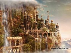 This is another idea for the Purefoy's castle. I really like the domes and nature to it.