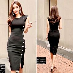 Cute Dresses, Casual Dresses, Dresses For Work, Formal Dresses, Suit Fashion, Look Fashion, Fashion Outfits, Stylish Work Outfits, Classy Outfits