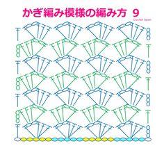 Crochet Stitches Chart, Crochet Stitches For Beginners, Crochet Diagram, Knitting Stitches, Needlepoint Stitches, Japanese Crochet Patterns, Crochet Motif Patterns, Stitch Patterns, Knitting Patterns