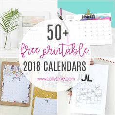 50+ free printable 2018 calendars. The ultimate roundup of 2018 calendar free printables!!