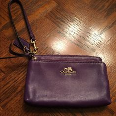 Coach Purple Wristlet Gently used. Coach Bags Clutches & Wristlets