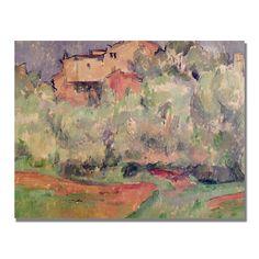 Paul Cezanne 'The House at Bellevue' Art