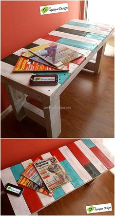 repurposed pallets made bench