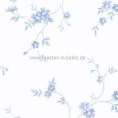 Tapete Landhausstil kleine Blumen blau online kaufen