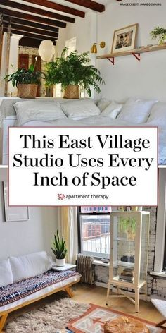 A 330-square-foot studio's custom furniture and smart storage ideas maximize every inch. | House Tours by Apartment Therapy #storage #storageideas #smallspaces #smallspaceliving #apartmentdecor #apartmentideas #apartmentdecoratingideas #eastvillage #studioideas #studiodecor Apartment Therapy, Apartment Living, Apartment Ideas, Apartment Layout, Apartment Interior, Smart Storage, Storage Ideas, Storage Solutions, Renters Solutions
