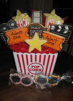Movie themed cookie bouquet