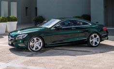 """ Beautiful green S550 coupe. """