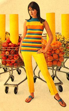 Grocery shopping fashion • Colleen Corby (1960s)