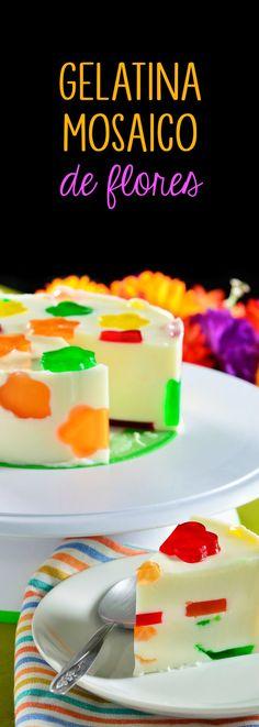 La clásica gelatina de yogurt que a todo mundo le encanta pero con una sorpresa. Esta es una cremosita gelatina con figuritas de gelatina de muchos sabores y colores. ¡Disfrútala!