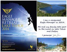 I am Eagle Manager for 25. 03. 2014. #myforeverdream #laketahoe #emr14