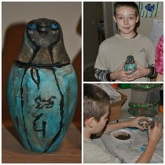 Greatly Blessed: Art Project: Canopic Jars Ancient Egypt homeschool