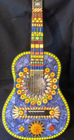 guitar mosaic ~ yummy colors