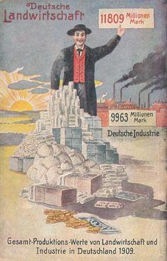 Propaganda AK des Bund der Landwirte, Volkswirtschaftliche Wahrheiten, Karte 3 | eBay