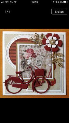 Birthday Cards For Women, Handmade Birthday Cards, Birthday Greeting Cards, Pretty Cards, Cute Cards, Disney Scrapbook, Scrapbook Cards, Bicycle Cards, Make Your Own Card