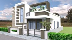 Best 12 One Story House with 3 Bedroom Plot – SamPhoas Plansearch Modern Exterior House Designs, Modern Small House Design, Latest House Designs, Cool House Designs, House Outer Design, Single Floor House Design, Bungalow House Design, Front Design, Model House Plan